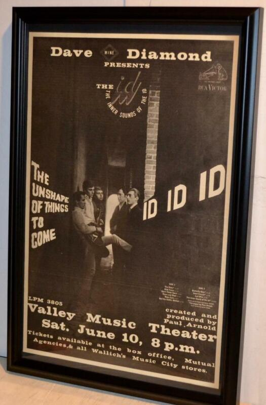 ID 1967 INNER SOUNDS OF THE ID UNSHAPE OF THINGS LP PROMO FRAMED POSTER / AD