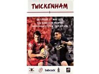 Army Navy rugby match Twickenham tickets x2 Sold out