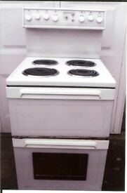 Free standing Radiant Classic electric cooker, double oven, with hob and built in grill