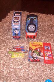 Thomas the tank bundle (talking book, big jigsaw and Thomas night light cuddly toy)
