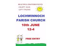 Lochwinnoch June Craft Fayre