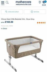 Chicco Next 2 Me bedside crib, Dove Grey