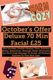Luxury 70 Min Facial £25