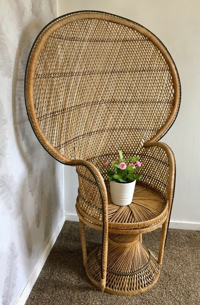 Surprising Vintage Mid Century Wicker And Rattan Peacock Chair In Didsbury Manchester Gumtree Gmtry Best Dining Table And Chair Ideas Images Gmtryco