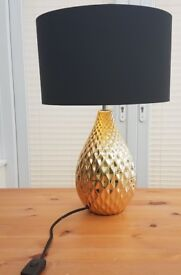 Large retro table lamp from House of Fraser with black shade