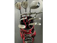 Full Set of Bay Hill by Palmer clubs, putter and cart bag