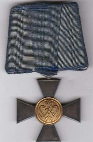 Original Prussia German WWI 20 Year Officer Long Service Cross Mounted PB Medal