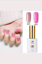 New 2 Pieces RS Gel Nail Polish 251_013 UV LED Glitter Varnish Soak Off 15ml