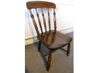 Low Seated Hardwod Spindle Back Nursery Chair