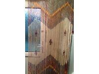 wooden beaded door curtain