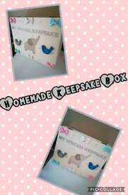 Homemade Keepsake boxes