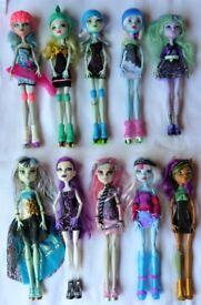 £5 each Monster High dolls bundle inc Ghoulia, Twyla, Frankie, Clawdeen...