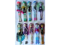 £5 each Monster High dolls bundle inc Ghoulia, Twyla, Frankie, Clawdeen...