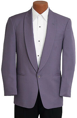 40R Mens Purple Vintage 80s Miami Vice Tuxedo Jacket Retro Prom Party Costume](80s Prom Costume Men)