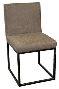 Restaurant Chairs Distress Brown or Black Solid Metal Frame
