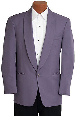 39L Mens Purple Vintage 80s Miami Vice Tuxedo Jacket Retro Prom Party  Costume](80s Prom Costume Men)