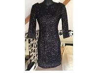 Sequin black dress size 10