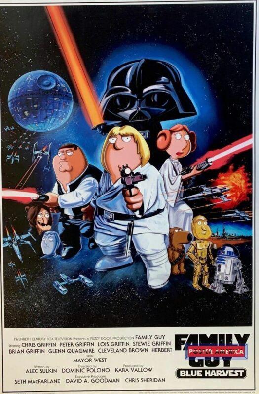 """Family Guy Blue Harvest Star Wars 2007 Poster 24 x 36"""""""