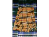 Genuine Burberry 100% Lambswool scarf