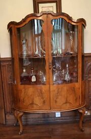 French Bow Fronted Display Cabinet