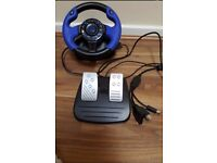 Gaming racing wheel and pedals