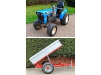 Iseki TX2160 4WD 16HP Sub-Compact Tractor & Tipping Trailer Package