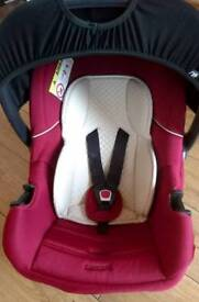 Mothercare Ziba Quilted Plum Baby Car Seat Rear Facing From Birth Onwards Group 0+