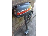 Mariner 5HP Aircooled Outboard Engine for Dinghy Boat Tender