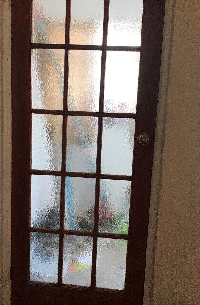 4 X Internal Hardwoodglass Panelled Doors For Sale In Saltash