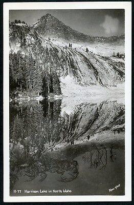Harrison Lake North Idaho 1940S Rppc Postcard Ross Hall Photo H 77