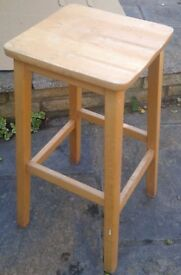 """STOOL. Old stool ,solid wood ,beige colour . Height 26"""" (67cm) . £10.each. Have 2 available"""
