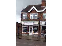 Barber shop and flat lease for sale