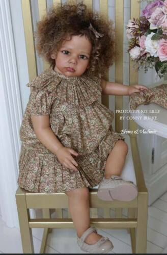 "Lilly by Conny Burke ~ Toddler 28"" Vinyl Reborn Doll Kit ~ Limited Ed: 366/600"
