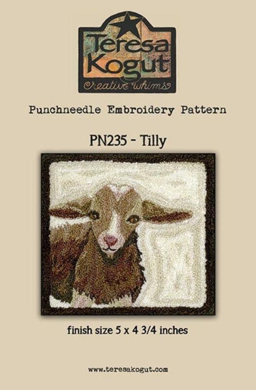 Tilly PN235 Goat Punch Needle PunchneedleTeresa Kogut Pattern