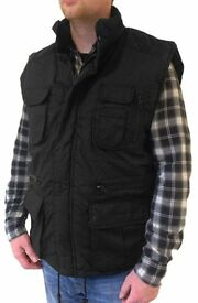 mens fisherman's style multi pocket body warmer