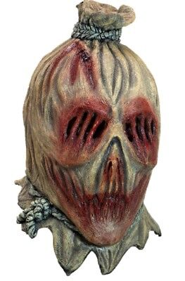 Screamcrow Adult Latex Mask Scarecrow Burlarp Sack Evil Gore Halloween Accessory - Sack Mask