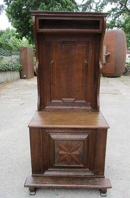 Toilettenstuhl um 1700 / Barock / Sitztruhe / Truhe / Museumsstück / Antiquität