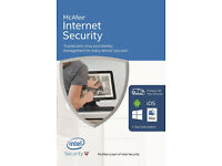 McAfee Internet Security 2016 - Unlimited Devices (PC/Mac/Android/iOS) - NEW - sealed package