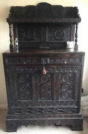 17th Century Oak 'marriage' unit / Sideboard