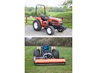 Kioti CK35HST 35Hp Compact Tractor & Flail Mower Package