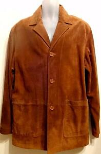NEW $600 XL DANIER 46 48 MENS SUEDE LEATHER JACKET Golden Brown Great Spring Coat