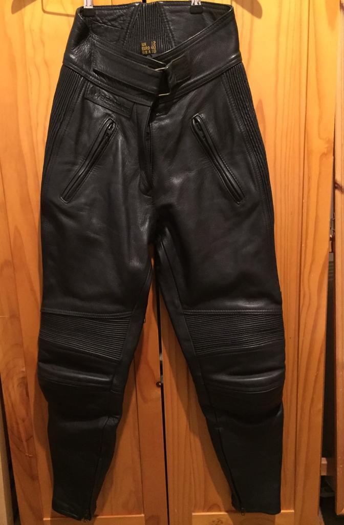 Ladies Belstaff leather motorcycle trousers