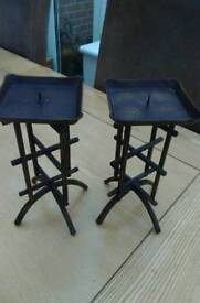 Two lovely candle holders very unusual £10