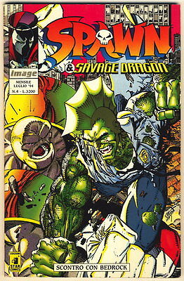 SPAWN 4 IMAGE STAR COMICS 1994 SCONTRO CON BEDROCK
