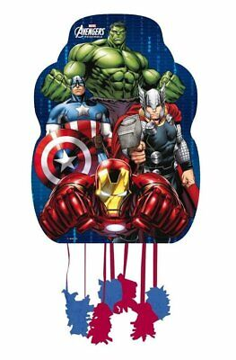 Marvel Avengers Hulk Assemble Pull String Pinata Birthday Party Game 33 x 46cm](String Pinata)