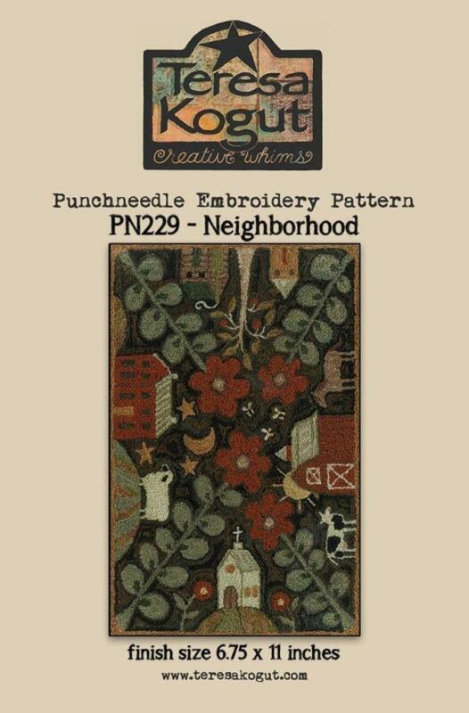 Neighborhood PN229 Punch Needle PunchneedleTeresa Kogut Pattern