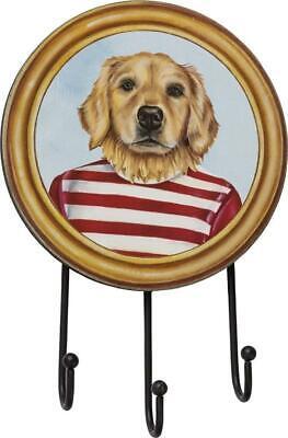 Golden Retriever Dog Hook Board Leash Keys Wall Mount Primitives by Kathy ()