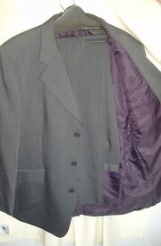 Gents Lightweight Grey Pinstripe Suit (2 Available)