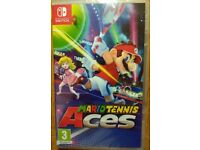 **SEALED** NINTENDO SWITCH AND MARIO TENNIS ACES GAME BRAND NEW AND HAS 1 YEAR WARRANTY