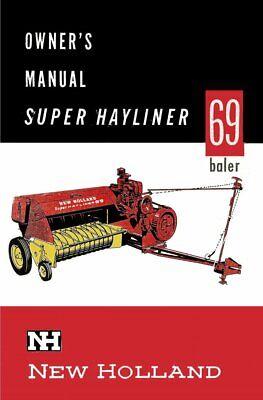 New Holland 69 Baler Hayliner Operators Owners Book Guide Manual Cd